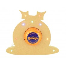 18mm Freestanding Christmas Pudding Terry's Chocolate Orange Holder with LED Lights